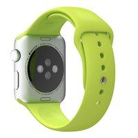 Спортивный силиконовый ремешок для Apple Watch 42мм зеленый
