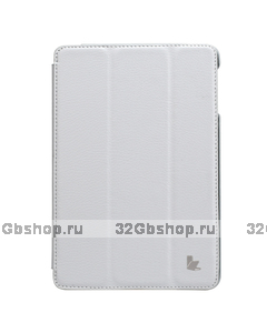 Чехол книжка Jisoncase для iPad mini 3 / 2 белый - Jisoncase Smart Case for iPad Mini Retina White