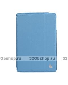 Чехол книжка Jisoncase для iPad mini 3 / 2 голубой - Jisoncase Smart Case for iPad Mini Retina Blue