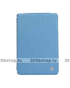 Чехол книжка Jisoncase для iPad mini 3 / 2 голубой - Jisoncase Smart Case for iPad Mini Retina Blue