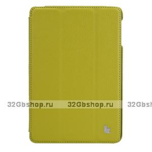 Чехол книжка Jisoncase для iPad mini 3 / 2 зеленый - Jisoncase Smart Case for iPad Mini Retina Green