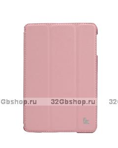 Чехол книжка Jisoncase для iPad mini 3 / 2 светло-розовый - Jisoncase Smart Case for iPad Mini Retina Pink