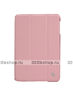 Чехол книжка Jisoncase для iPad mini 3 / 2 светло-розовый - Jisoncase Smart Case for iPad Mini Retina Pink