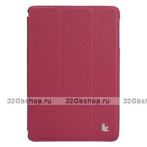 Чехол книжка Jisoncase для iPad mini 3 / 2 розовый - Jisoncase Smart Case for iPad Mini Retina Rose