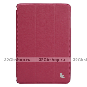 Чехол книжка Jisoncase для iPad mini 3 / 2 розовый - Jisoncase Smart Case for iPad Mini Retina Rose