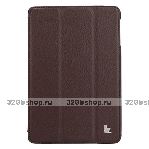 Чехол книжка Jisoncase для iPad mini 3 / 2 коричневый - Jisoncase Smart Case for iPad Mini Retina Brown