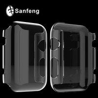 Прозрачный тонкий пластиковый чехол накладка для Apple Watch 38мм