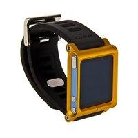Чехол LunaTik для iPod nano 6 в виде браслета черный ремешок золотистый корпус