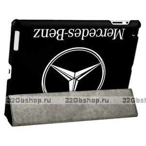 Чехол Jisoncase для iPad 4/ 3/ 2 черный с логотипом mersedes