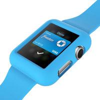 Голубой силиконовый защитный чехол ремешок для Apple Watch 42мм