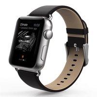 Черный кожаный ремешок Usams для Apple Watch 38mm - Usams Genuine leather Watch Band Black