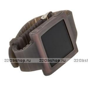 Силиконовый чехол для iPod nano 6 браслет с металлической застежкой серый
