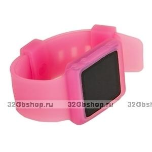 Силиконовый чехол браслет для iPod nano 6  розовый