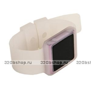 Силиконовый чехол браслет для iPod nano 6  прозрачный