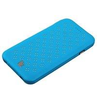 """Голубой кожаный чехол Jisoncase Executive Flip Case для iPhone 6 / 6s (4.7"""")"""