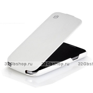 Кожаный чехол HOCO для Samsung Galaxy S4 - HOCO Duke flip Leather Case White