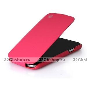 Кожаный чехол HOCO для Samsung Galaxy S4 - HOCO Duke flip Leather Case Pink