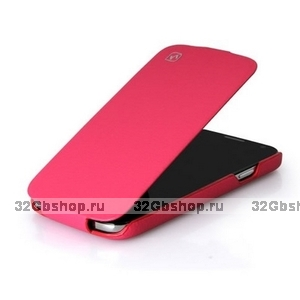 Кожаный чехол HOCO для Samsung Galaxy S4 - HOCO Duke flip Leather Case Pink