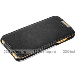 Чехол кожаный i-Carer для iPhone 6s / 6 (4.7) черный - Metal Warrior Litchi Pattern Series