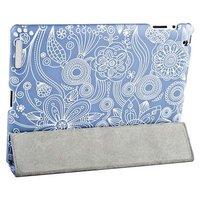Чехол Jisoncase для iPad 4/ 3/ 2 с рисунком голубой узор