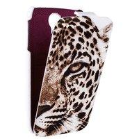 Чехол книжка Fashion для Samsung Galaxy S4 леопард