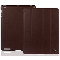 Кожаный чехол Jisoncase для iPad 4 / 3 / 2 коричневый