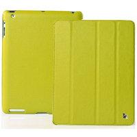 Кожаный чехол Jisoncase для iPad 4 / 3 / 2 зеленый