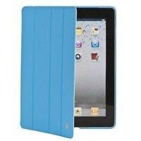 Кожаный чехол Jisoncase Executive для iPad 4 / 3 / 2 голубой