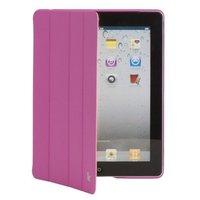 Кожаный чехол Jisoncase Executive для iPad 4 / 3 / 2 ярко-розовый