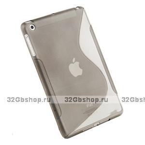 Чехол силиконовый для iPad mini жесткий серый