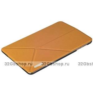 Золотой чехол книжка обложка Birscon для iPad mini 3 /2 - Birscon Simple series Golden
