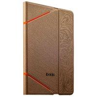 Золотой чехол книга с тесненнием iBacks VV Structure Leather Case для iPad mini 3 /2 - VV Structure Leather Case  Venezia Champaign Gold