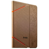 Золотой чехол книга с тесненнием iBacks VV Structure Leather Case для iPad mini 3 /2 - VV Structure Leather Case  Venezia Champaign Gold
