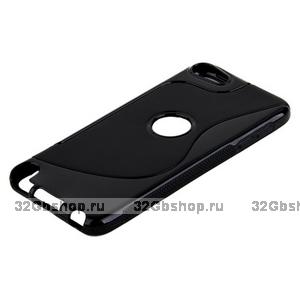 Силиконовый чехол для iPod touch 5 жесткий черный