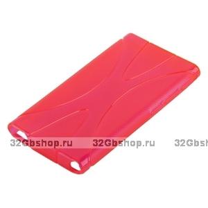 Силиконовый чехол  для iPod nano 7 розовый