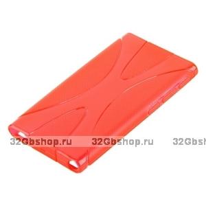 Силиконовый чехол  для iPod nano 7 красный