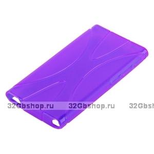Силиконовый чехол  для iPod nano 7 фиолетовый