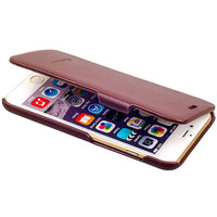 Коричневый чехол книжка Fashion Case для iPhone 6s Plus/ 6 Plus (5.5) - Leather Book Case Brown