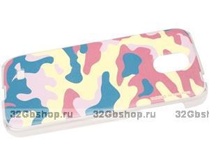 Чехол для Samsung Galaxy S4 - цветной камуфляж - Camouflage Case