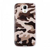 Чехол для Samsung Galaxy S4 - коричнево серый  камуфляж - Camouflage Case