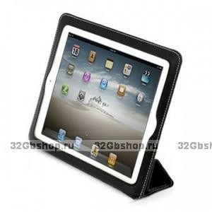 Черный чехол книжка с рамкой Yoobao для iPad 4 / 3 / 2 - Yoobao iSmart Leather Case Black