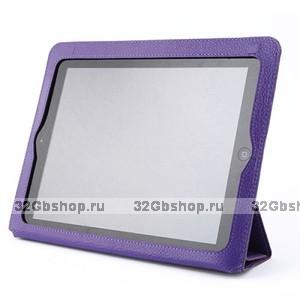 Фиолетовый чехол книжка с рамкой Yoobao для iPad 4 / 3 / 2 - Yoobao iSmart Leather Case Purple
