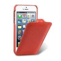 Кожаный чехол Melkco для iPhone 5c красный - Leather Case Jacka Type (Red LC)