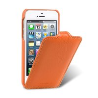 Кожаный чехол Melkco для iPhone 5c оранжевый - Leather Case Jacka Type (Orange LC)