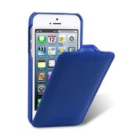 Кожаный чехол Melkco для iPhone 5c синий - Leather Case Jacka Type (Dark Blue LC)