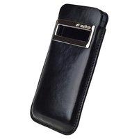 Кожаный чехол Melkco для iPhone 5c винтажный черный - Leather Case iCaller Type (Vintage Black)