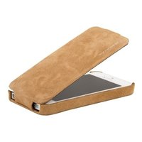 Замшевый чехол Borofone для iPhone 5s / SE / 5 - Borofone Shark flip Leather Case Brown