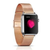 Металлический браслет i-Carer для Apple Watch 42мм розовое золото - i-Carer Milan Steel Watchband Series Rose Gold