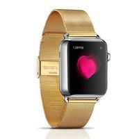 Металлический браслет i-Carer для Apple Watch 42мм золото - i-Carer Milan Steel Watchband Series Gold