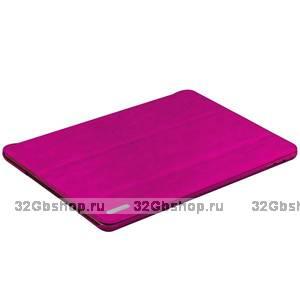 Малиновый чехол книжка для iPad Air 2 - Birscon Fashion Series Smart Case Rose Red